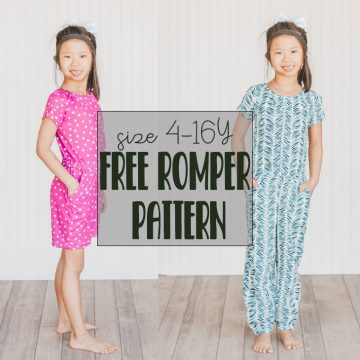 free romper pattern for girls