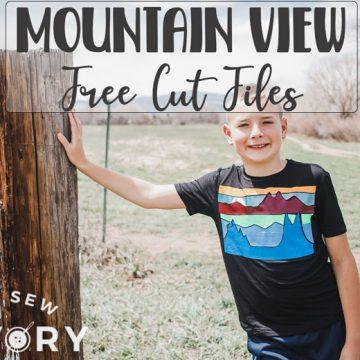 Mountain view free svg file