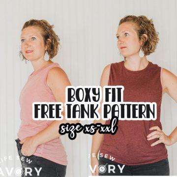 boxy fit tank free pdf pattern