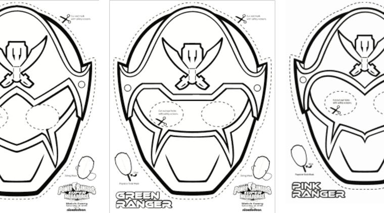 SUPER MEGA Power Rangers Printable - Coloring Masks