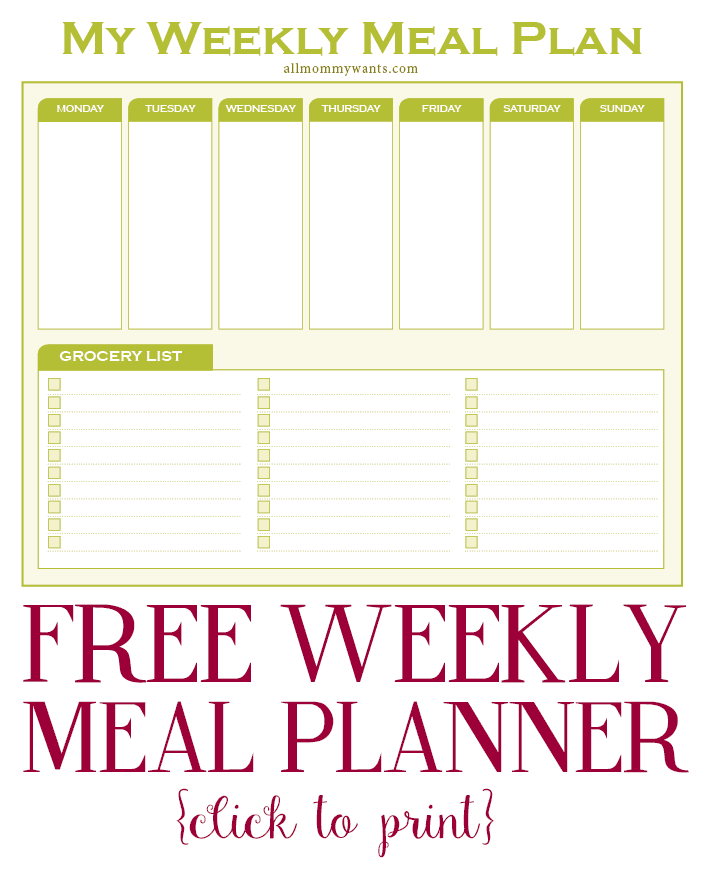 Weekly Meal Plan-click