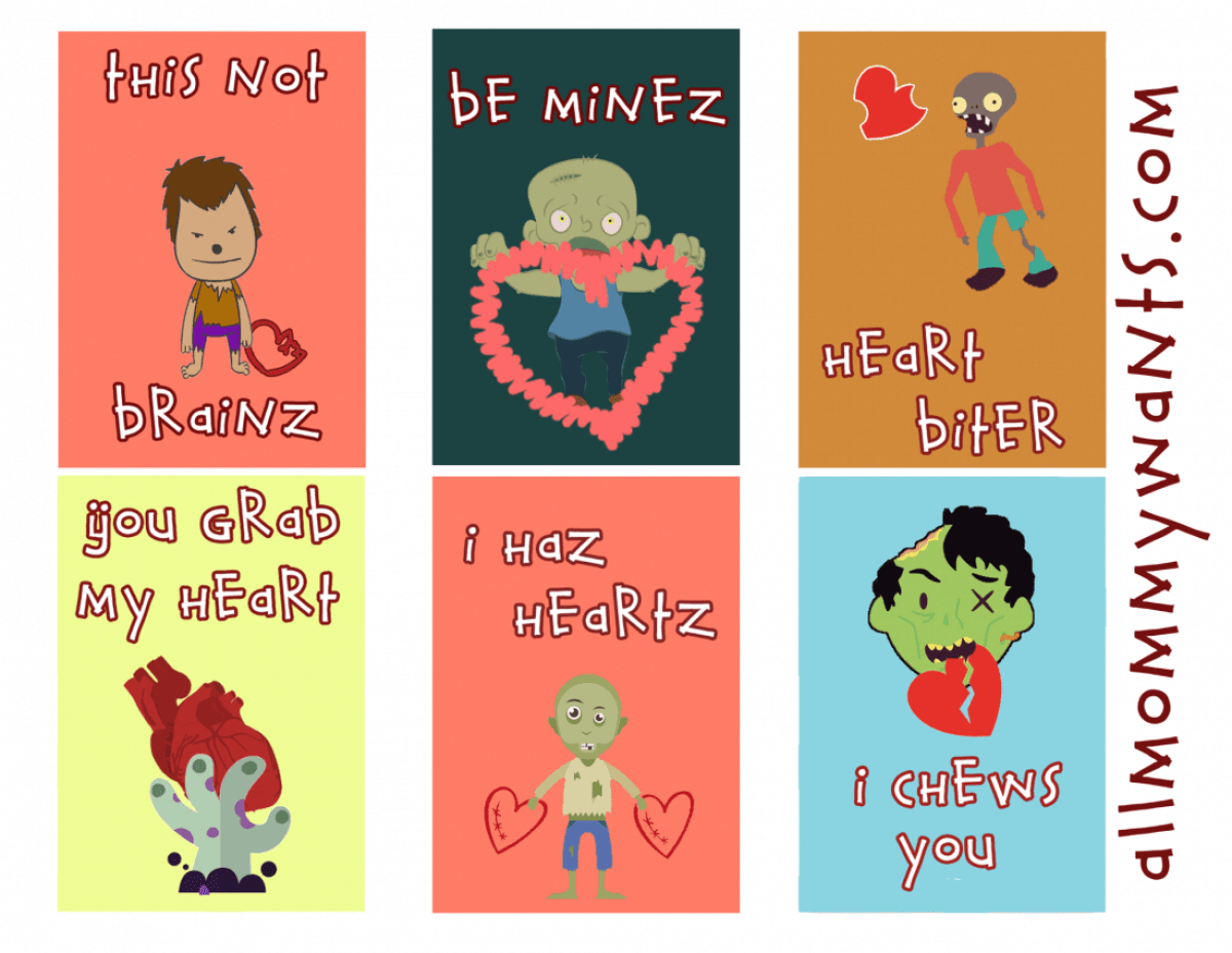 zombie vday cards