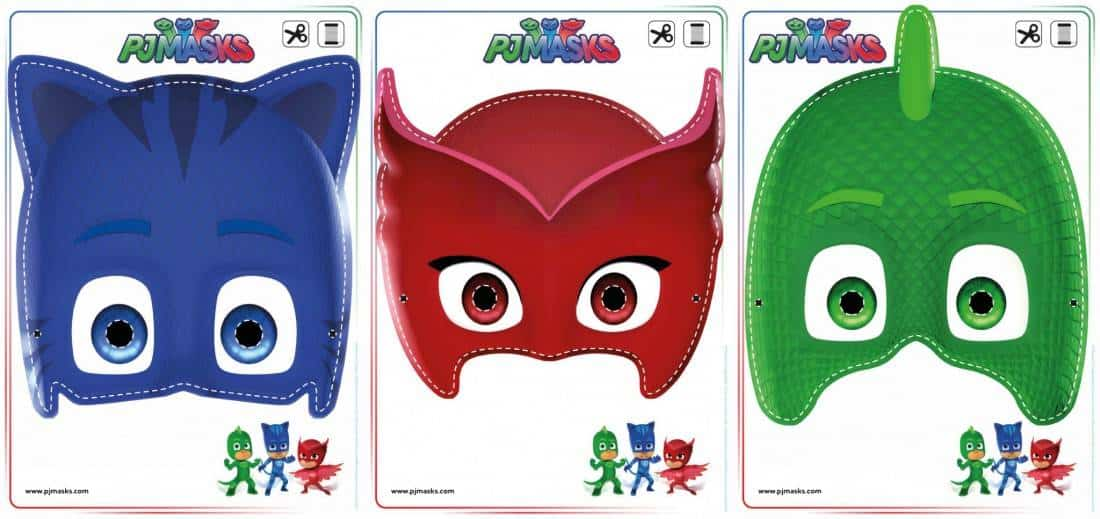 Geeky image with pj masks mask printable