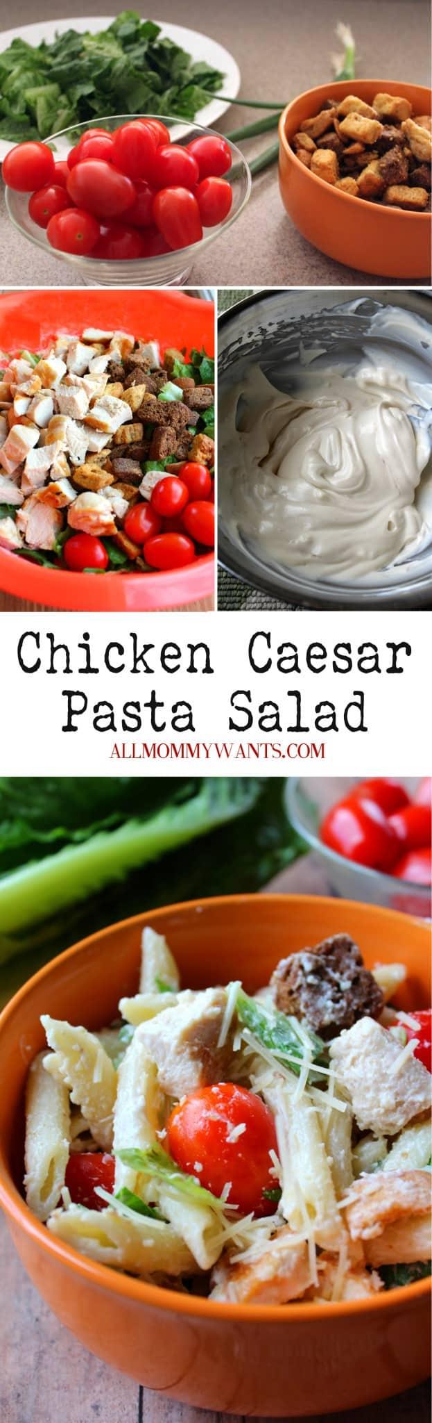 Chicken Caesar Pasta Salad Pin