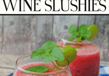 Raspberry wine slushies