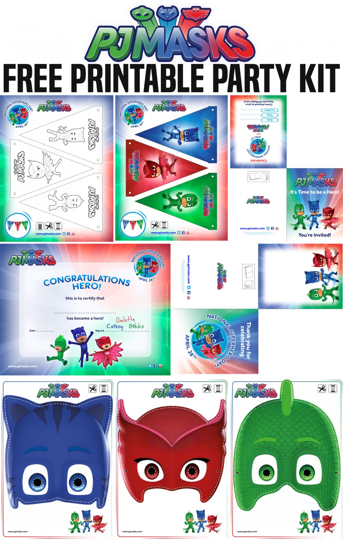 picture about Pj Masks Printable Images referred to as April 28 Is Countrywide SUPERHERO Working day! 5 Tactics toward Rejoice With