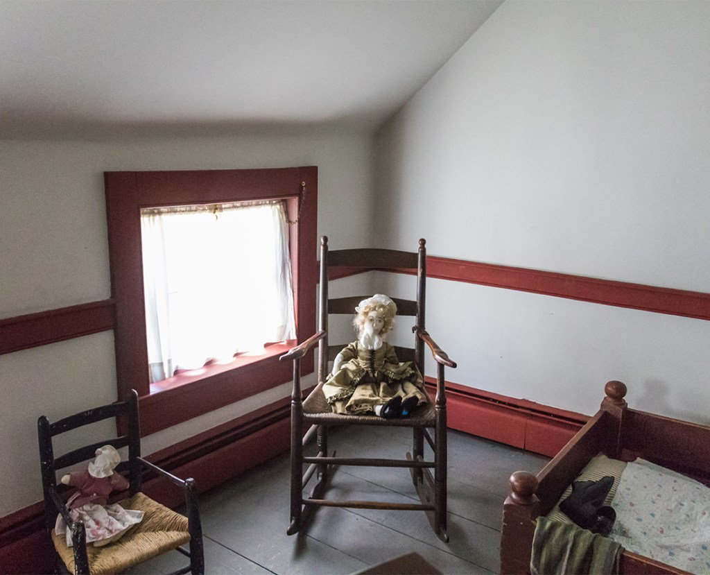 A visit to the Cossit House Museum in Sydney, Nova Scotia, The architecture is neo-classical Georgian. The home is furnished with 18th century pieces and museum staff dressed in period costume demonstrate traditional skills like candle-making, lace-making and butter-churning. Photo Credit: Wendy Nordvik-Carr©