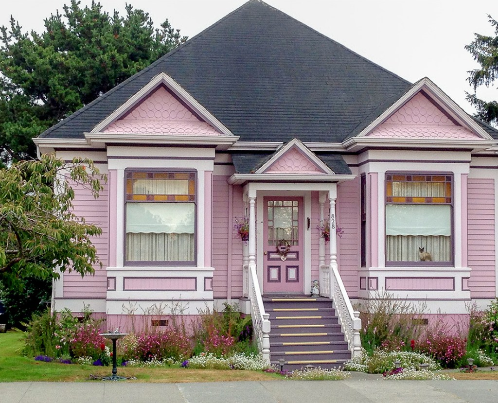 Victorian Houses of Ferndale - Pretty in Pink - Victorian Homes of Ferndale in northern California near Hwy 101. Photo Credit: Wendy Nordvik-Carr©