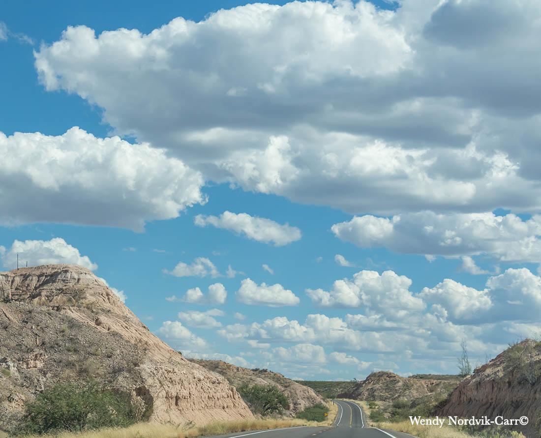 Heading down the highway from Tucson to Bisbee, Arizona. Wendy Nordvik-Carr©