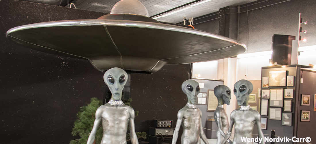 Visit Roswell learn about the UFO crash, sightings and aliens. Photo Credit: Wendy Nordvik-Carr©