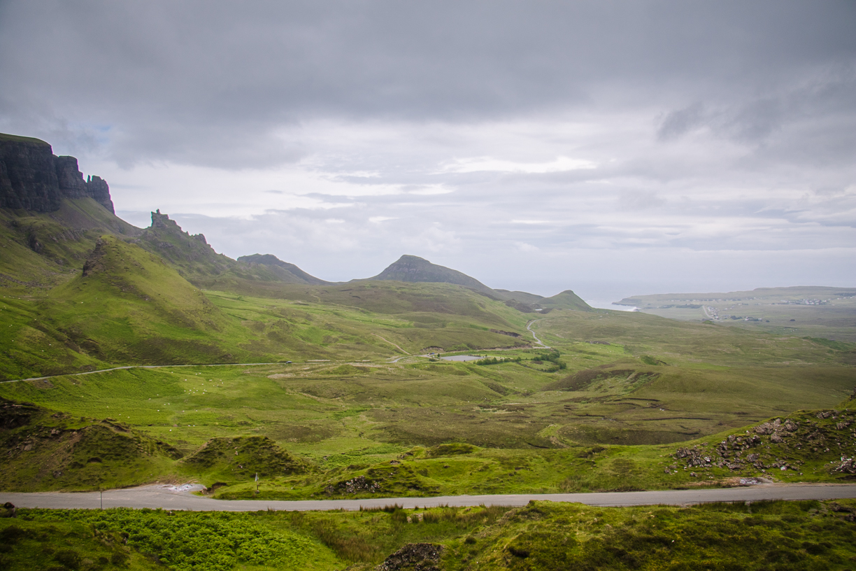 The Quiraing is located in the north of Isle of Skye on the Trotternish Ridge. The scenery is spectacular and the rock formations are out of this world making the area perfect for use in Sci-Fi movies. The ridge was shaped through a series of huge landslides creating dramatic peaked hoodoos, cliffs and concealed mesas. Photo Credit: Wendy Nordvik-Carr © View more photos wendynordvikcarr.com