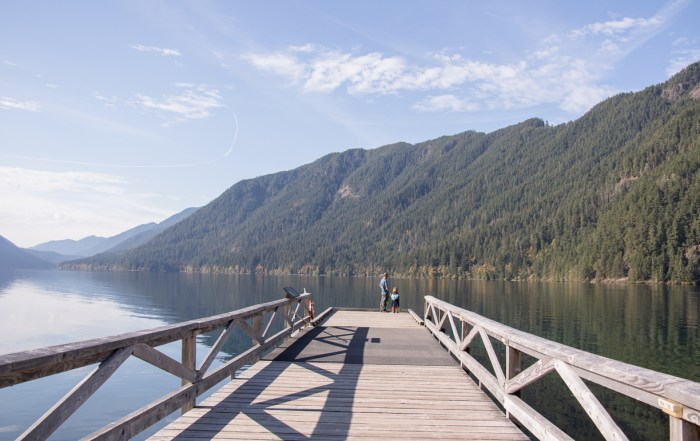 Reflective beauty of Lake Crescent - Useful trip planning tools for Olympic National Park. Always check road, trail and weather conditions. It is a wild, vast wilderness of nature at its best. Photo credit: Wendy Nordvik-Carr©