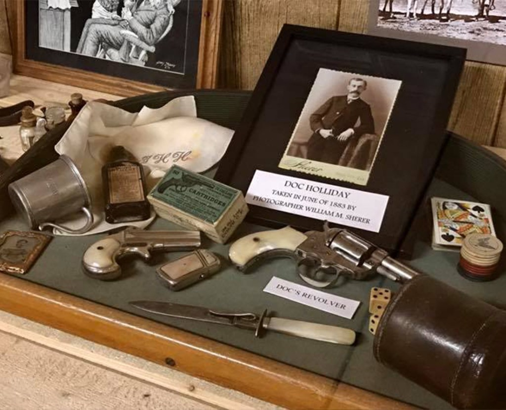 Top 5 things to do in Tombstone Arizona - Visit the The Tombstone Gunfighter Museum Hall of Fame features Doc Holliday's revolver. Photo Courtesy of the Tombstone Chamber of Commerce.
