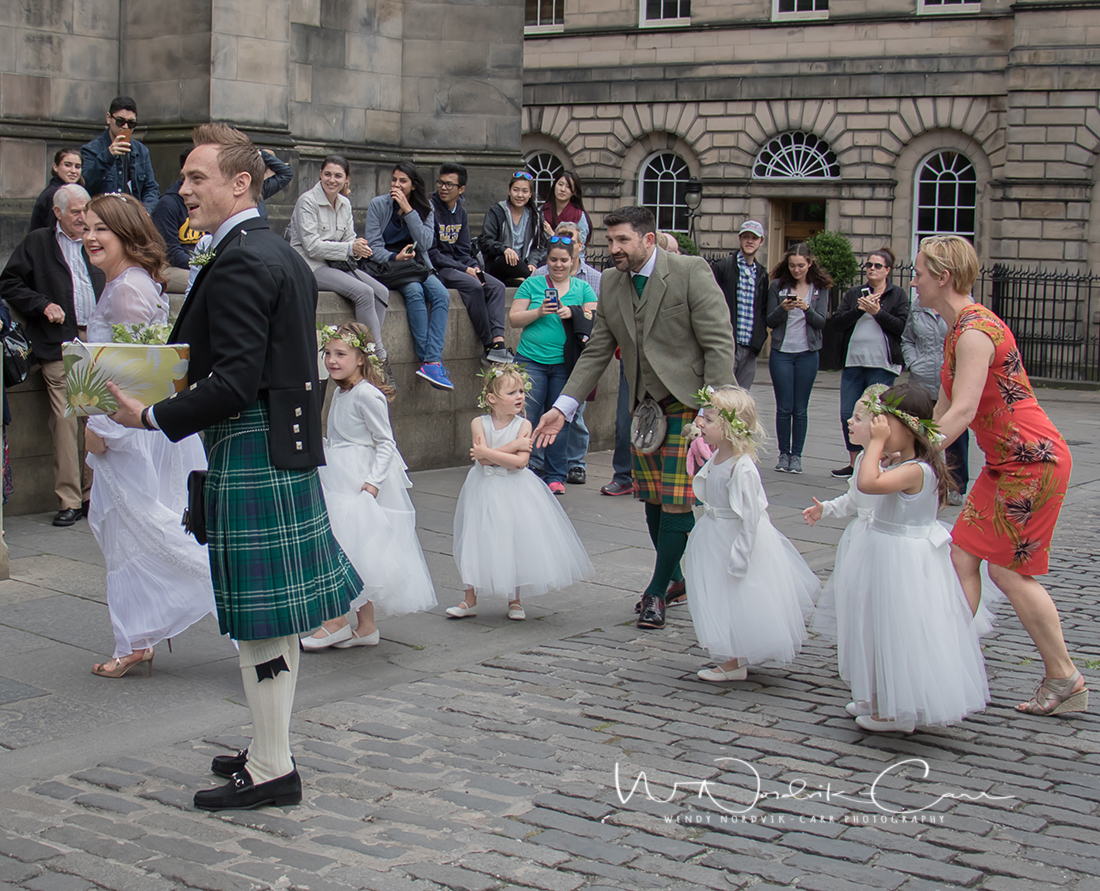 A bride arrives for her wedding ceremony at St. Giles' Cathedral. Discover things to do in medieval Edinburgh. Explore Old Town and New Town along with the many museums, monument, memorials and galleries of this historic city. Photo Credit: Wendy Nordvik-Carr