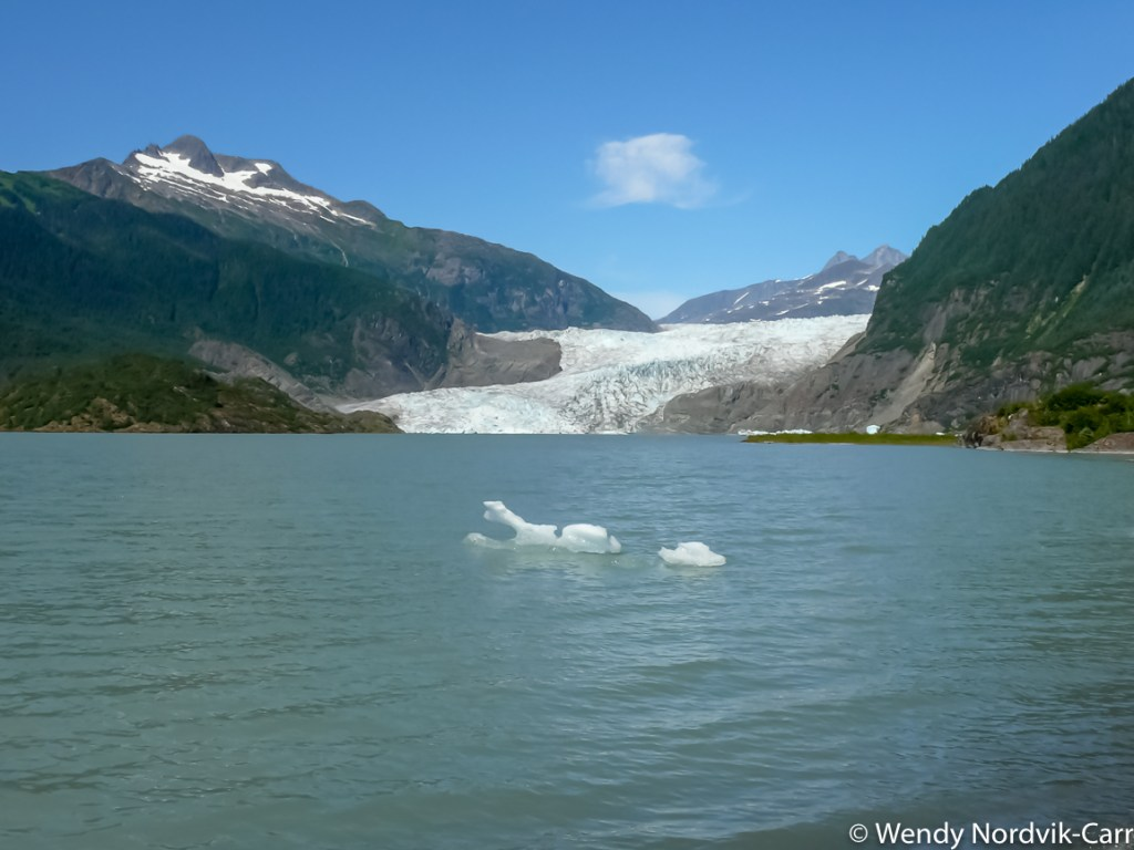 Spectacular Mendenhall Glacier in Juneau. Discover the breathtaking scenery of Alaska wilderness. Explore top things to do while in port. Wendy Nordvik-Carr©