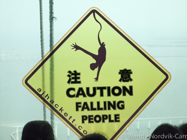 World's highest bungee jump - Travel to Macau to experience a mix of Chinese and Portuguese cultures. Discover more at LifesIncredibleJourney.com Photo Credit Wendy Nordvik-Carr©
