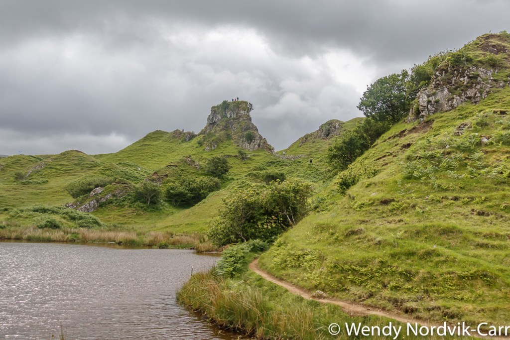 Discover the enchanted geological landscape of Fairy Glen on the Isle of Skye, Scotland. The area looks as if it could be the home to magical faeries. Photo Credit: Wendy Nordvik-Carr©