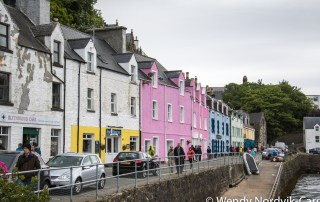The Scottish town of Portree is a port of call for many cruise ships and a great place to start your discovery of the rugged countryside of Isle of Skye. Photo Credit Wendy Nordvik-Carr