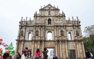 Ruins of St. Pauls Cathedral is part of the Historic Centre of Macau, designated UNESCO World Heritage Site. Photo credit: Wendy Nordvik-Carr