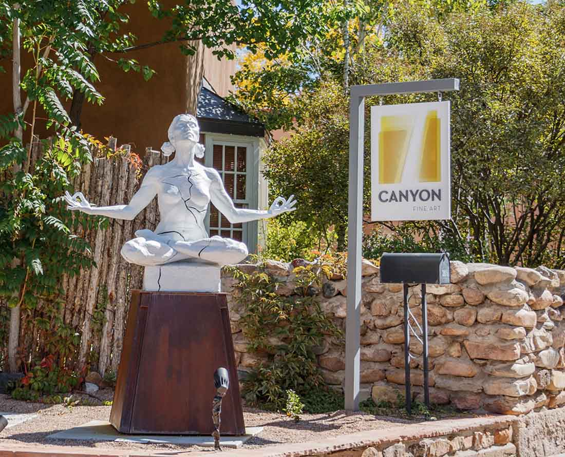 One of more than 200 art galleries on Canyon Road Santa Fe, New Mexico Photo: Wendy Nordvik-Carr©