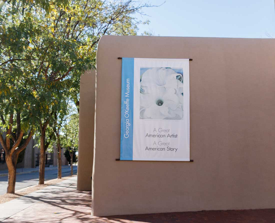 A visit to the Georgia O'Keeffe Museum is one of the top things to do in Santa Fe, New Mexico