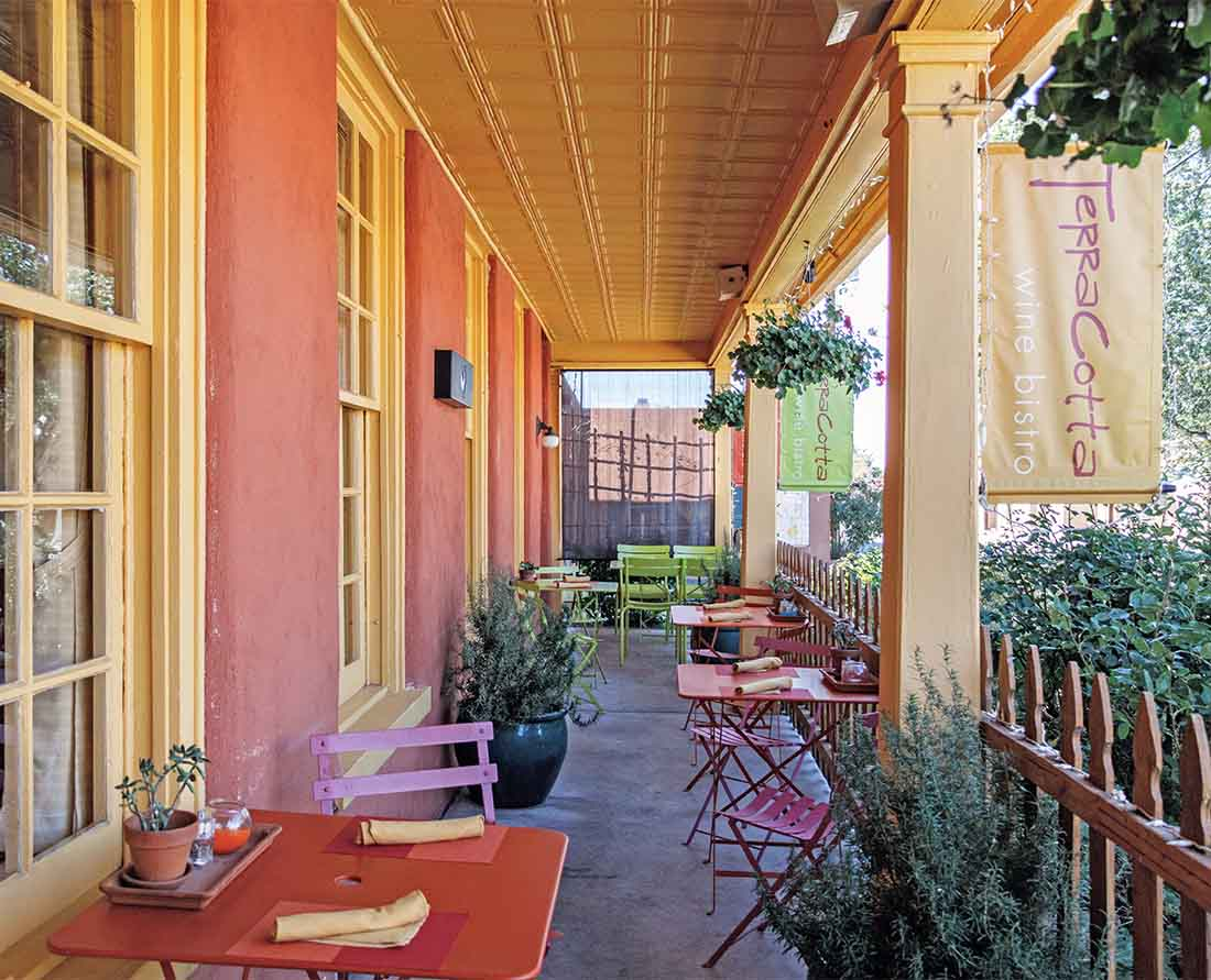 Terracotta Wine Bistro in Santa Fe, New Mexico has wonderful food and a great selection of wines. Photo: Wendy Nordvik-Carr©