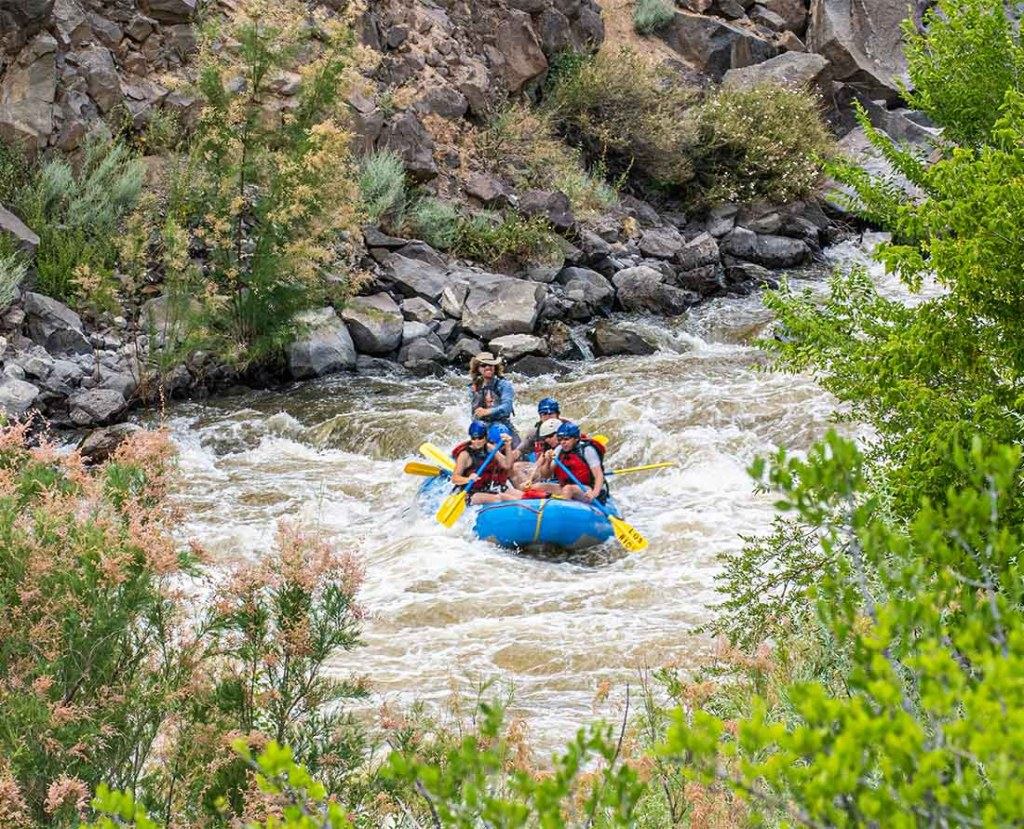 White water rafting Taos Box on the Rio Grande River is one of the top things to do near Santa Fe New Mexico. Photo: New Mexico True