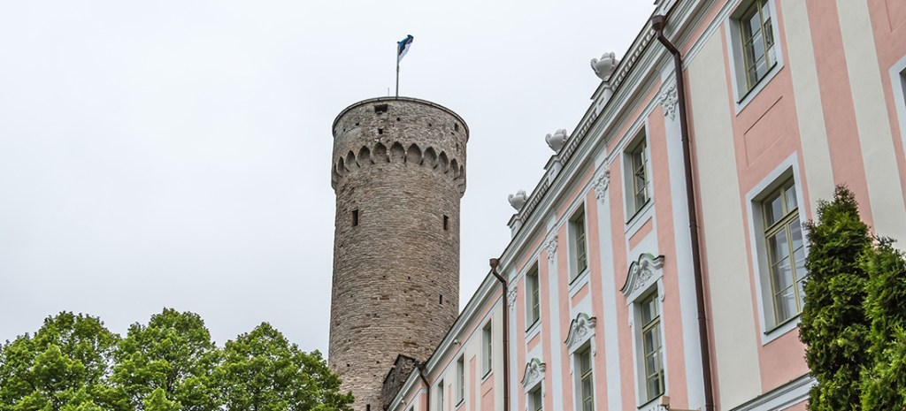 Tall Hermann tower is part of the defensive wall of Tallinn's Old Town. It was built around 1371 on Toompea Castle's southwestern corner. The flag shows the ruling power and is raised and lowered every day. There is plenty to discover in Tallin's Old Town. It is rich in medieval and Hanseatic history and is a designated UNESCO World Heritage Site. Photo Credit: Wendy Nordvik-Carr