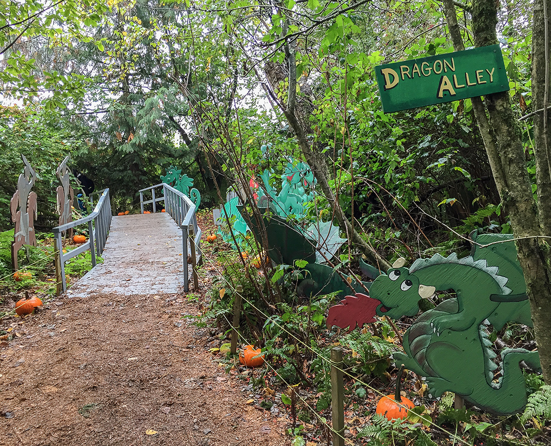 A visit to Fairy Tale Woods, Laity Pumpkin Patch North, Maple Ridge. Pumpkin Patch Guide to Metro Vancouver. Photo Credit: Wendy Nordvik-Carr©
