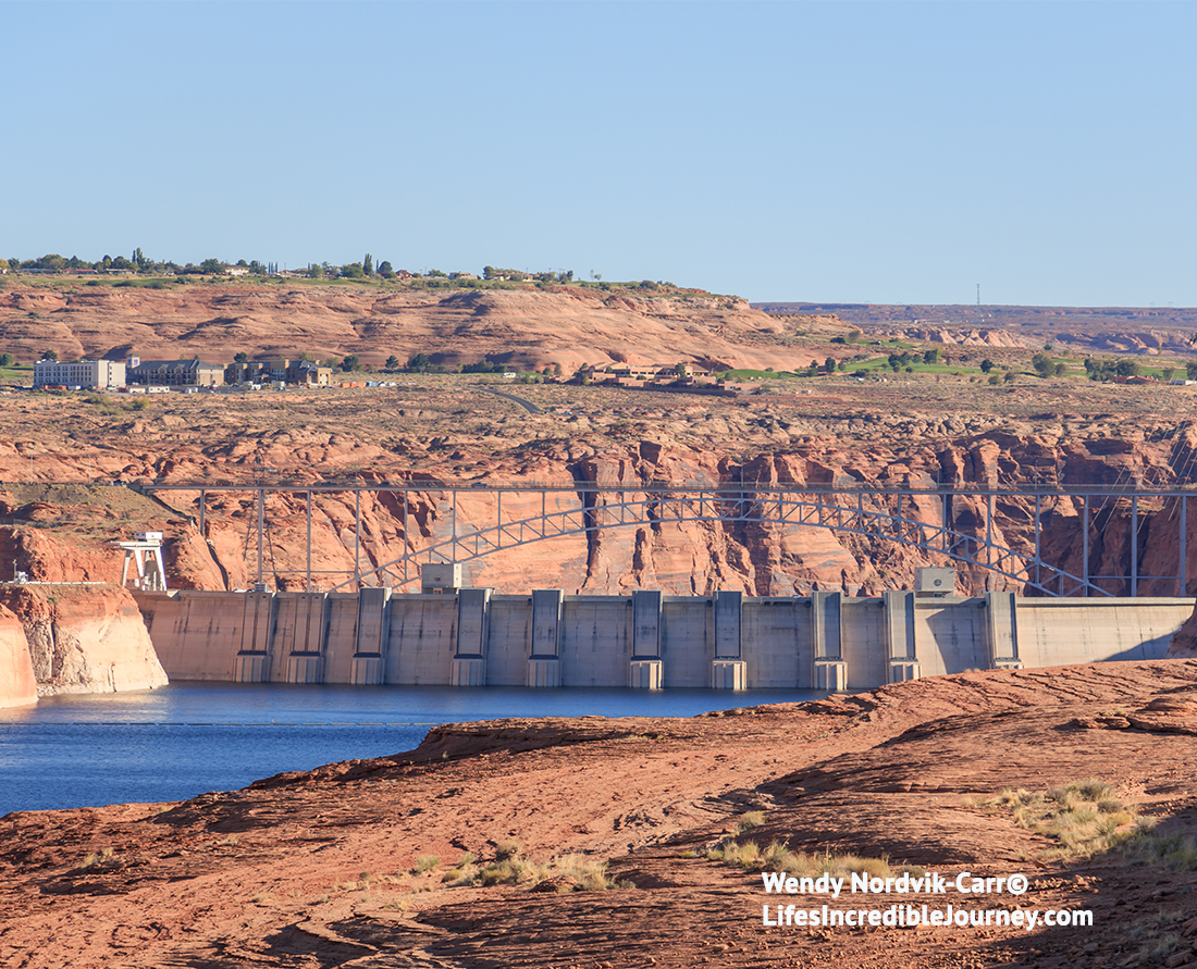 Glen Canyon Dam is the second highest concrete-arch dam in North America.It is one of the top things to see in the Lake Powell area.