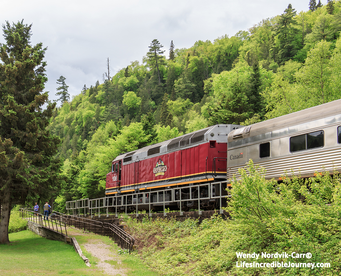 Discover the inspiration of Sault Ste Marie through the eyes of Canada's famous Group of Seven artists. Ride the rails on a uniquely Canadian train trip to spectacular Agawa Canyon. Photo Credit: Wendy Nordvik-Carr©