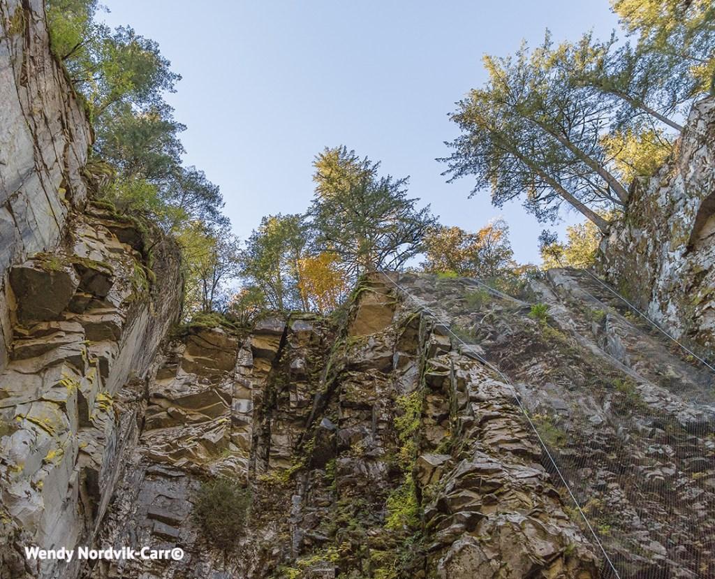 The steep granite walls of the Coquihalla Canyon: Photo Credit: Wendy Nordvik-Carr©