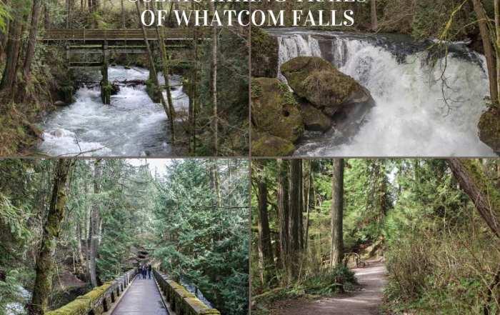Scenic hikes at Whatcom Falls Park in Bellingham, Washington