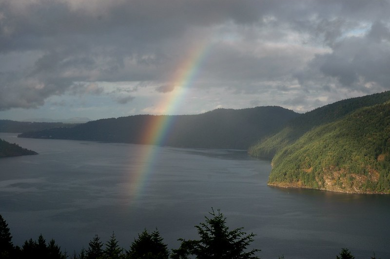 Top things to do from Victoria to Pacific Rim National Park stop for the spectacular views from the Malahat Drive Summit.