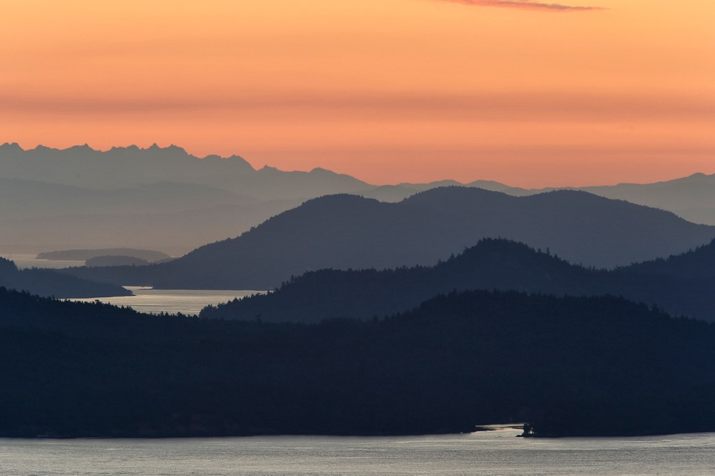 21-day epic BC road trip - Sunset over the Gulf Islands - Photo Credit: Destination Greater Victoria©