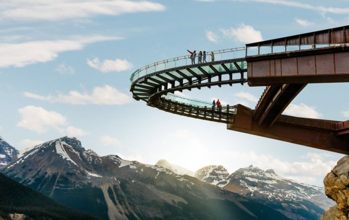 Top things to do Banff Lake Louise Jasper Columbia Icefields Mike Seehagel : Pursuit Banff Jasper Collection Sky Bridge