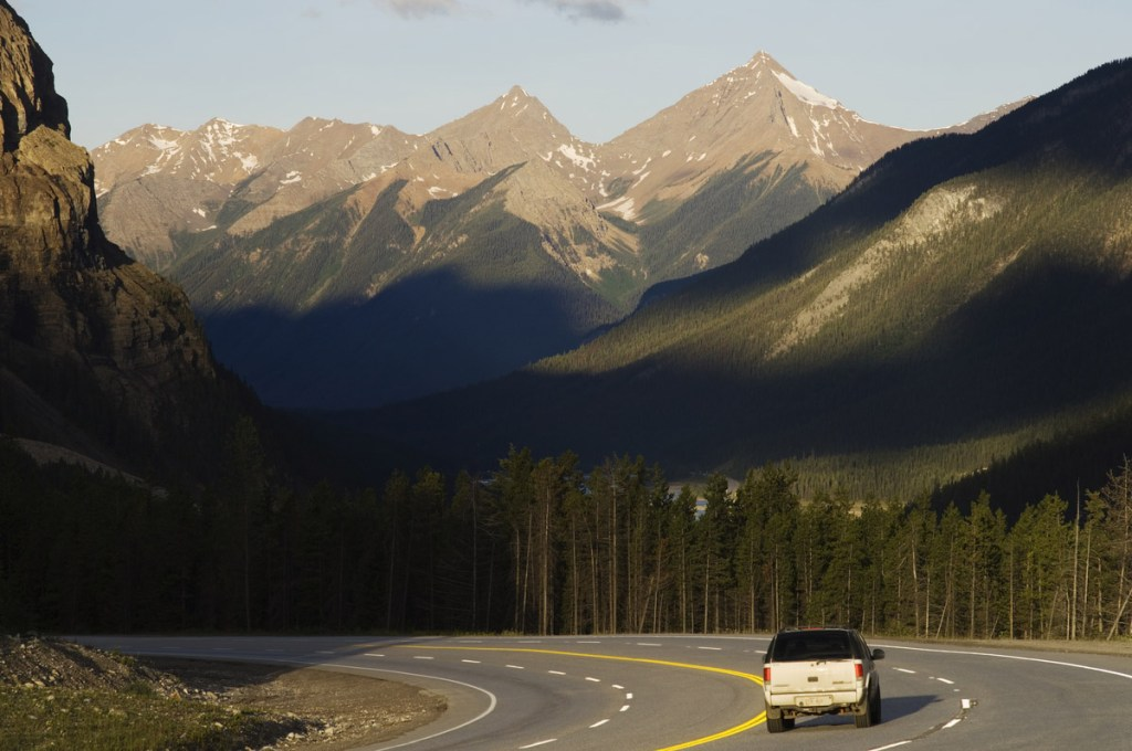 Top things to do in BC. Drive the highway winding through the mountains in Yoho National Park. Photo Credit: Destination BC/Albert Normandin