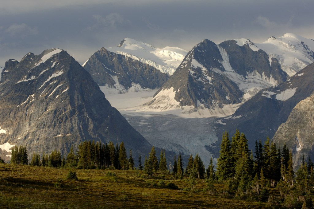 Top things to do in BC - View of glaciers and mountain peaks in Glacier National Park. Photo Credit: Destination BC/David Gluns