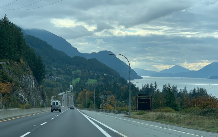 One of the most scenic drives in North America Sea to Sky Highway Howe Sound View. Photo Credit: Wendy Nordvik-Carr©