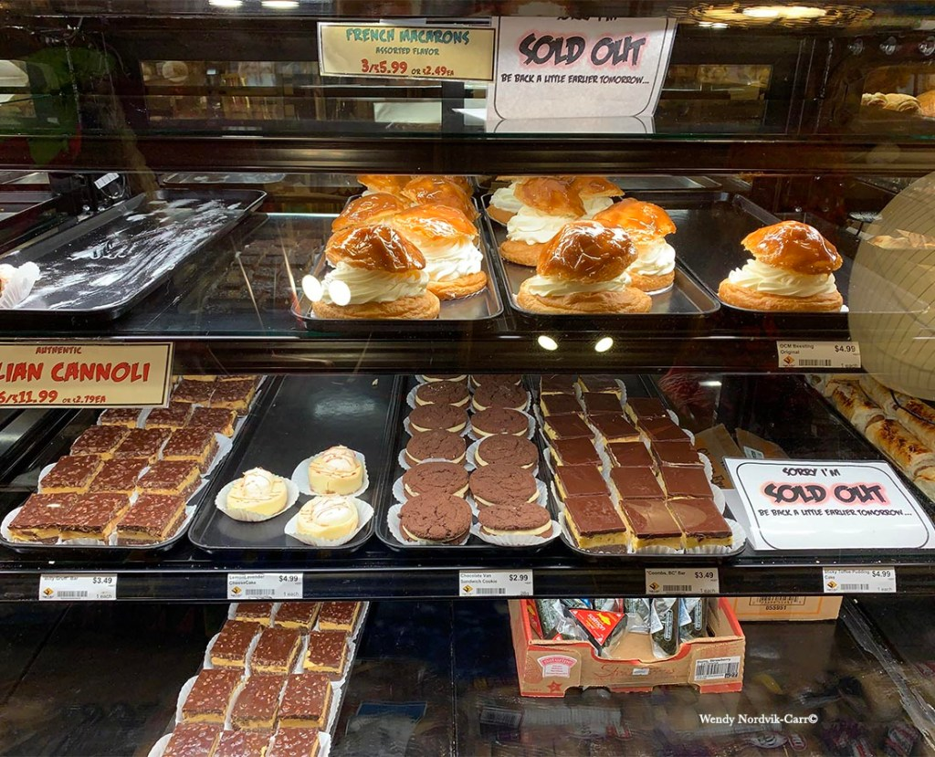 Top things to do on Vancouver. Check out the bakery at the Coombs Country Market on Vancouver Island. Photo Credit: Wendy Nordvik-Carr©