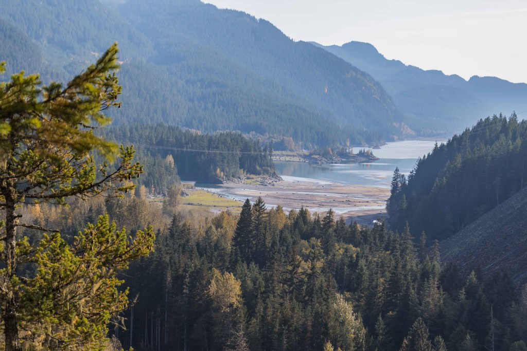 Views of Daisy Lake and the Cheakamus River from the Brandywine lookout. Photo Credit: Wendy Nordvik-Carr©