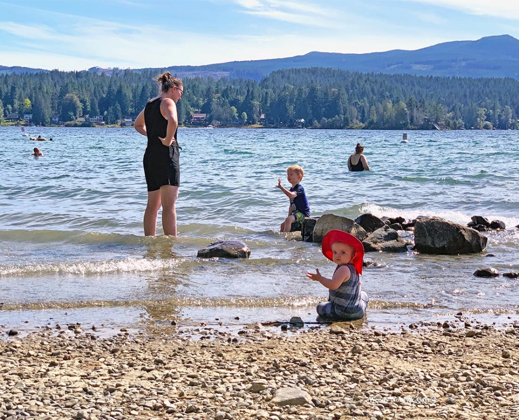 Fresh water swimming at Sproat Lake Provincial Park. A great family-friendly area to explore. Photo Credit: Wendy Nordvik-Carr©