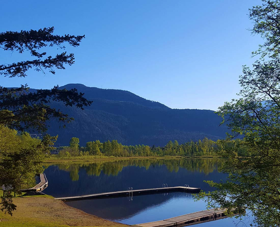Swimming at One Mile Lake is one of the best things to do near Nairn Falls Provincial Park, Whistler and Pemberton. Photo Credit: C. Cindric