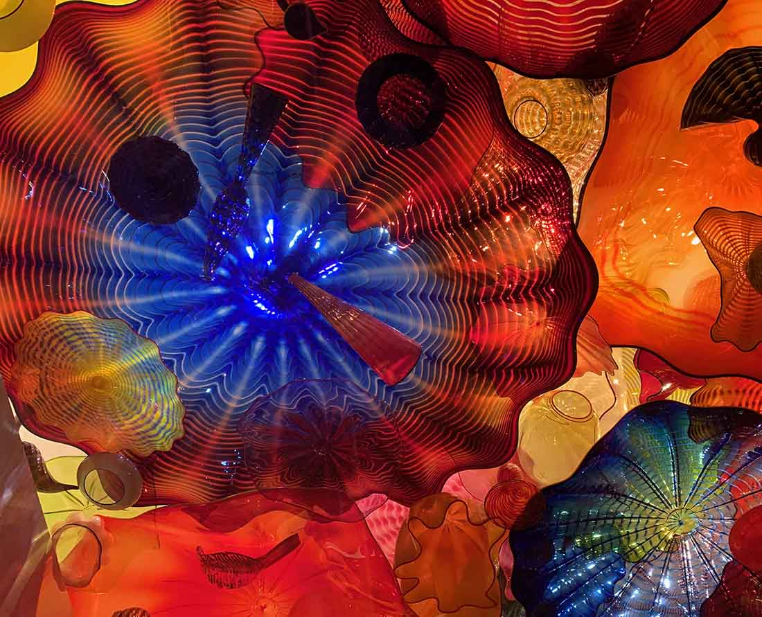 The Persian Ceiling, Chihuly Gardens and Glass, Seattle, Washington.