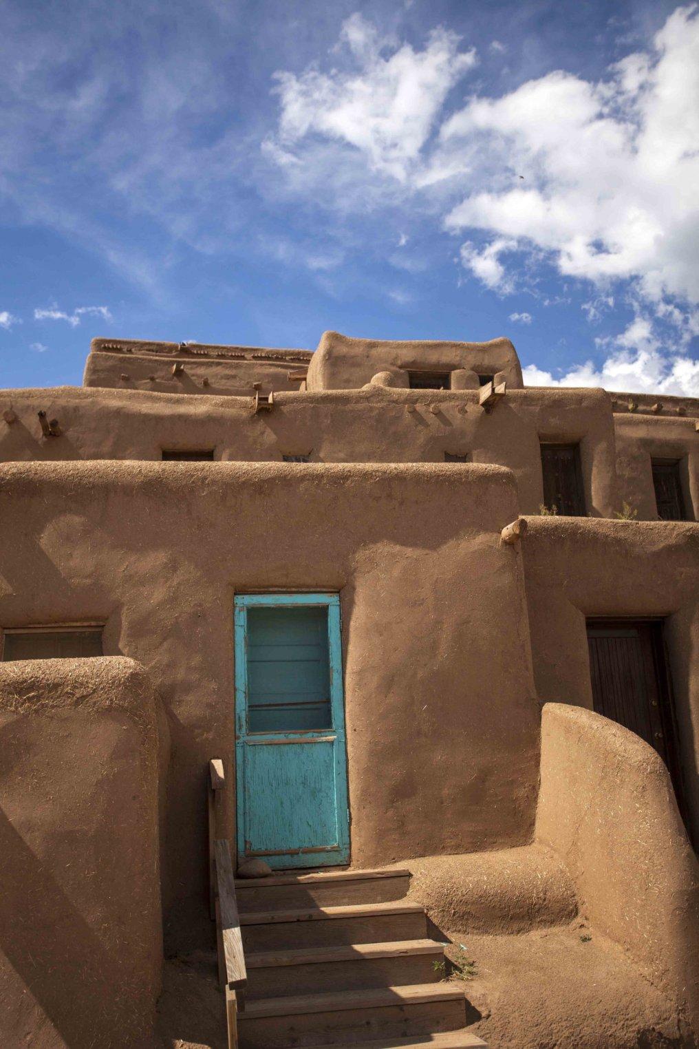 Adobe Architecture Taos Pueblo National Historic Landmark UNESCO World Heritage Site