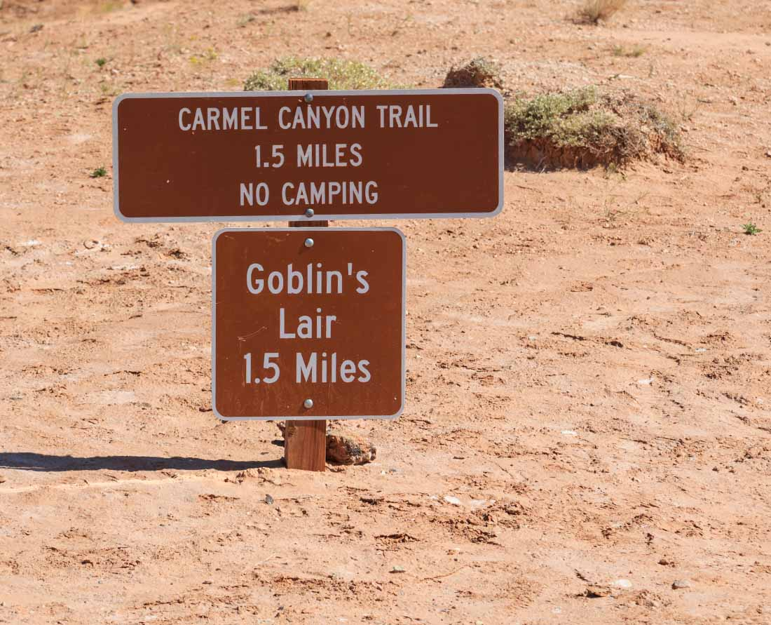 Goblin Valley hiking trails to explore.