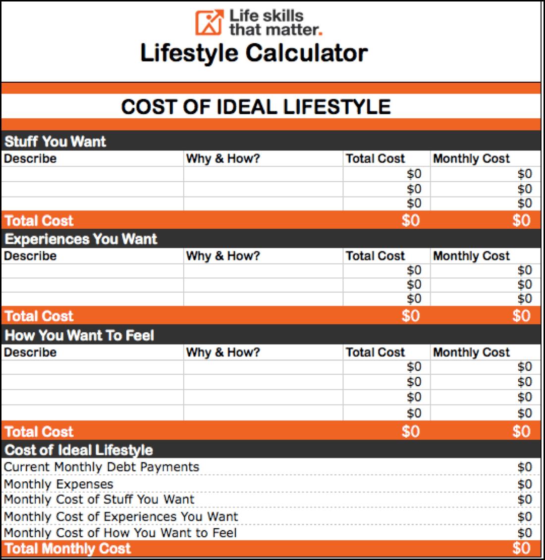 Lifestyle Calculator