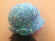 Rainbow Flapper Hat