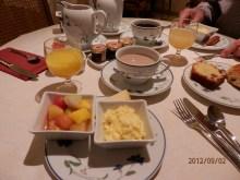 Breakfast in our hotel