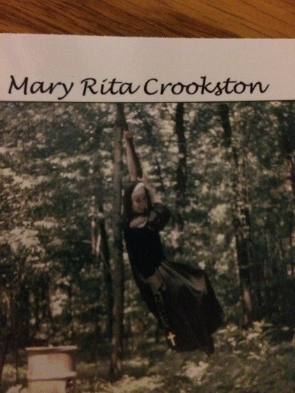 Sister Mary Rita Swinging